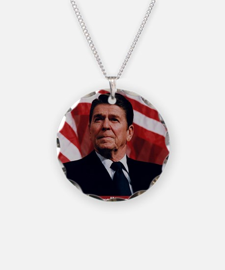 Ronald Reagan Morality Quote Necklace