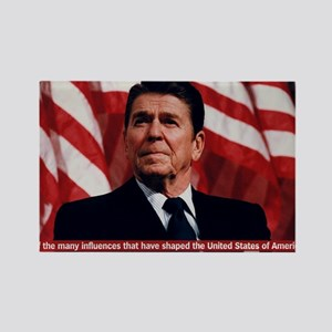 Ronald Reagan Bible Quote Rectangle Magnet