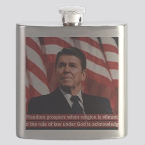 Ronald Reagan Freedom Quote Flask