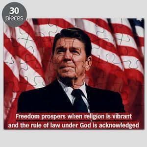 Ronald Reagan Freedom Quote Puzzle