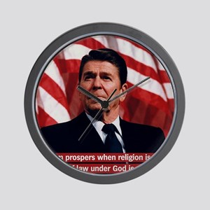 Ronald Reagan Freedom Quote Wall Clock