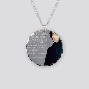 de Tocqueville Equality Quot Necklace Circle Charm
