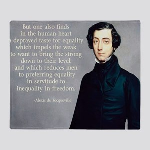 de Tocqueville Equality Quote Throw Blanket