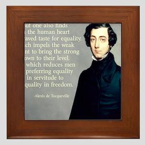 de Tocqueville Equality Quote Framed Tile
