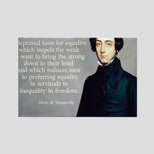 de Tocqueville Equality Quote Rectangle Magnet