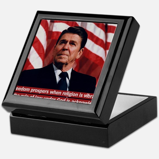 Ronald Reagan Freedom Quote Keepsake Box
