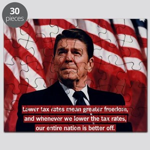 Reagan Lower Taxes Puzzle