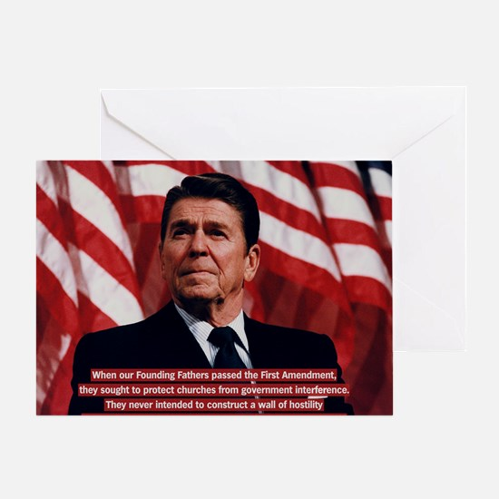 Reagan Church and State Quote Greeting Card