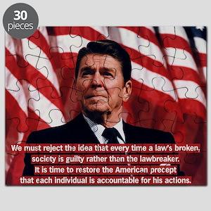 Reagan Individual Responsibility Quote Puzzle