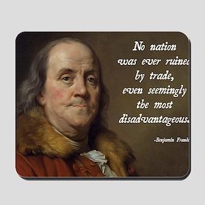 Benjamin Franklin Free Trade Mousepad