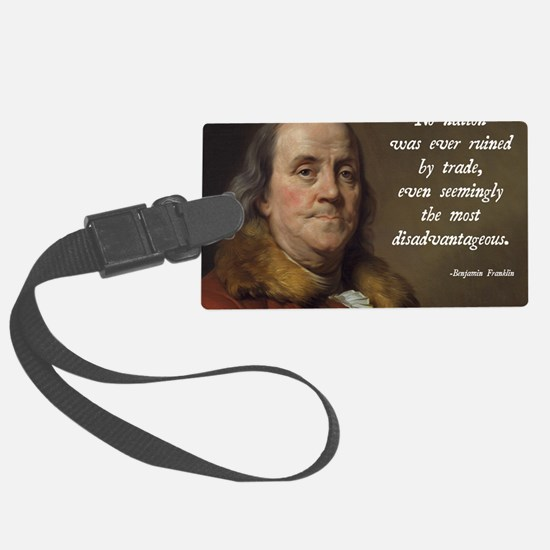 Benjamin Franklin Free Trade Luggage Tag