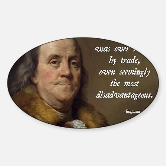 Benjamin Franklin Free Trade Sticker (Oval)