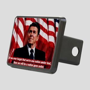 Reagan God Quote Rectangular Hitch Cover