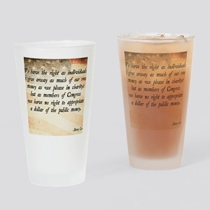 Davy Crockett Quote Drinking Glass