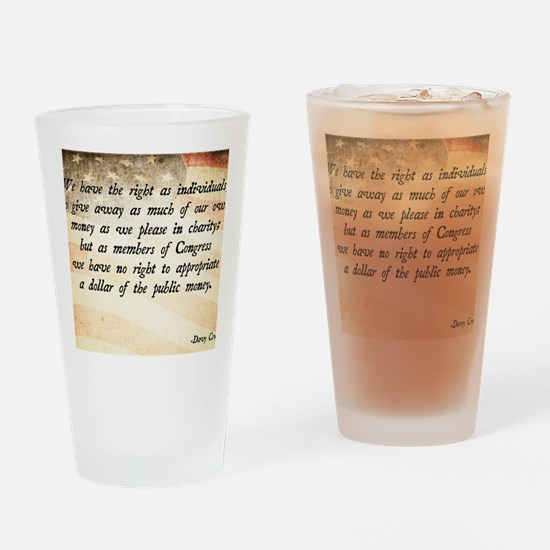 Davy Crockett Quote Drinking Glass
