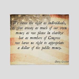 Davy Crockett Quote Throw Blanket