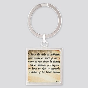Davy Crockett Quote Square Keychain
