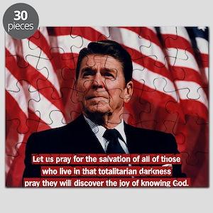 Ronald Reagan Prayer Quote Puzzle