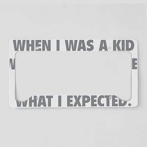 kidExpected1C License Plate Holder
