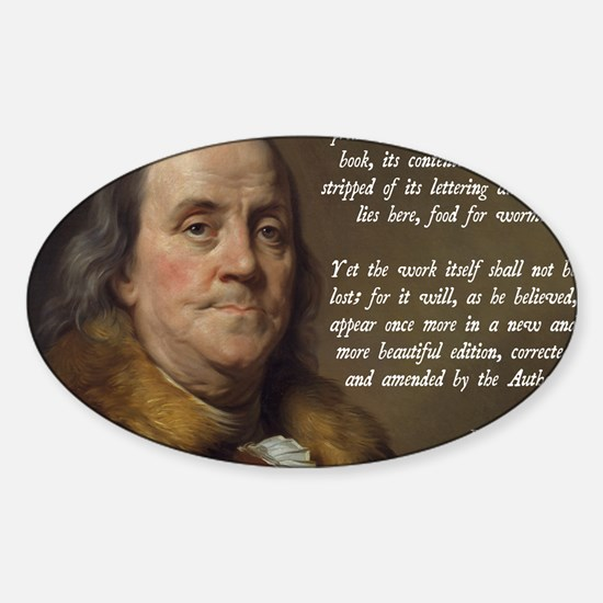 Benjamin Franklin Christianity Quot Sticker (Oval)