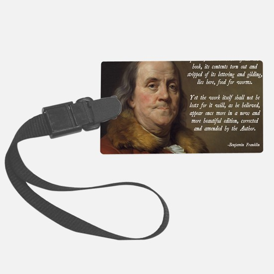 Benjamin Franklin Christianity Q Luggage Tag