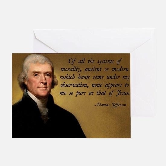 Thomas Jefferson Jesus Quote Greeting Card