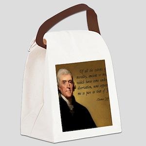 Thomas Jefferson Jesus Quote Canvas Lunch Bag