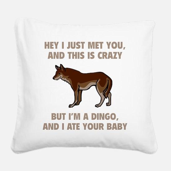 dingoBaby1C Square Canvas Pillow