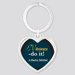 EVdriversDoItinElectricVehicles Heart Keychain