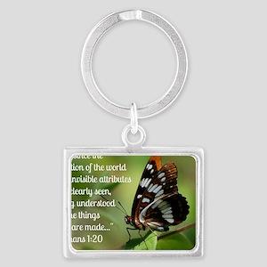 Butterfly Romans 1:20 Landscape Keychain
