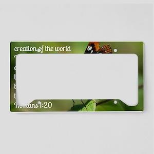 Butterfly Romans 1:20 License Plate Holder