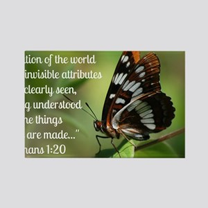 Butterfly Romans 1:20 Rectangle Magnet