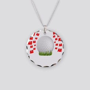 Caddyshack Be The Ball Necklace Circle Charm