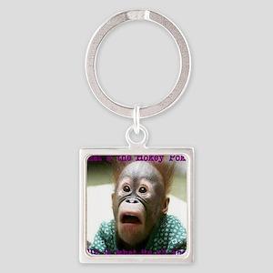 Hokey Pokey Orangutan Square Keychain