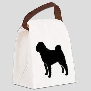 sharpeizblk Canvas Lunch Bag