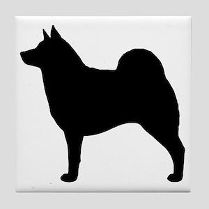 norwegianelkhoundblkZ Tile Coaster