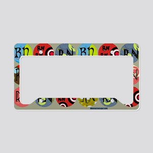 RN Colorful Circles Nurse Sho License Plate Holder