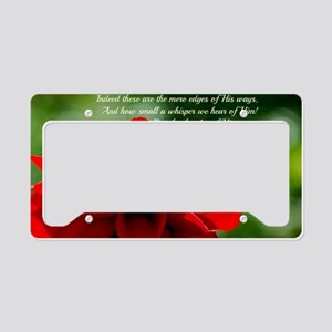 Dahlia Job 26:14 License Plate Holder