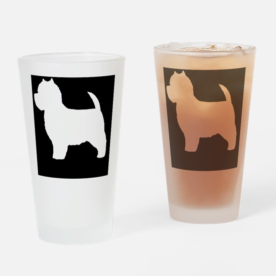 westiepatch Drinking Glass