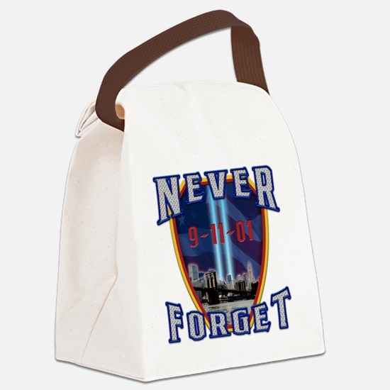 Never Forget Canvas Lunch Bag