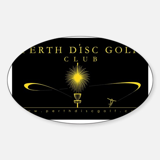 Black and Gold PDGC Sticker (Oval)