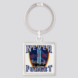 Never Forget Square Keychain