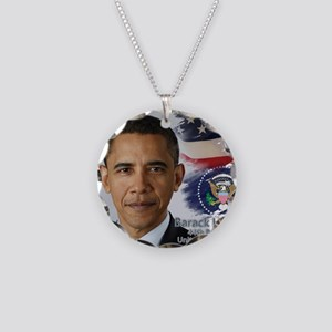 Obama Calendar 001 cover Necklace Circle Charm