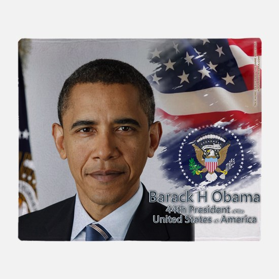 Obama Calendar 001 cover Throw Blanket