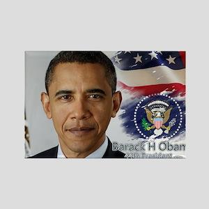 Obama Calendar 001 cover Rectangle Magnet