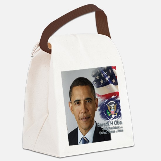 Obama Calendar 001 cover Canvas Lunch Bag
