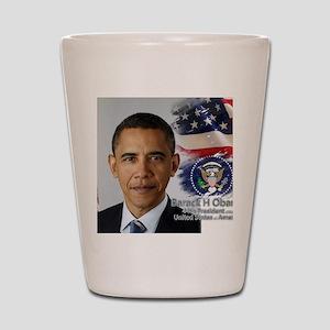Obama Calendar 001 cover Shot Glass