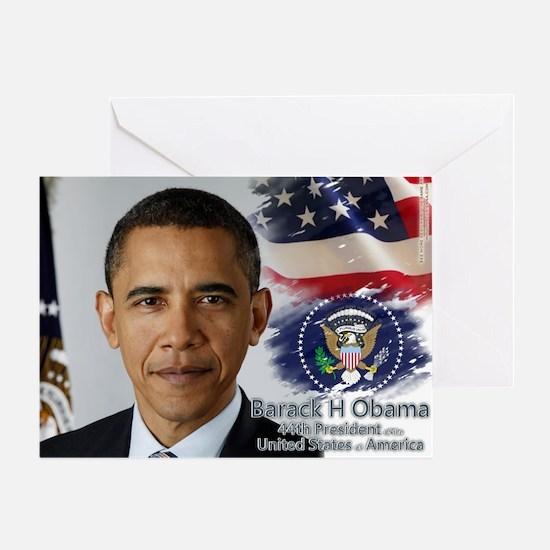 Obama Calendar 001 cover Greeting Card