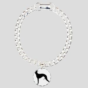 whippetblack Charm Bracelet, One Charm