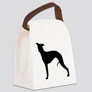 whippetblack Canvas Lunch Bag